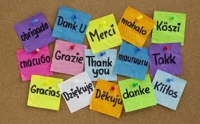 gracias en todos los idiomas