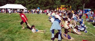 juegos picnic llevar a pasear en trineo de pasto